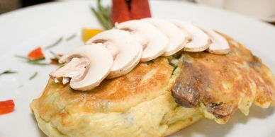 omelets are rolled in a skillet and then oven baked to give you a splendidly light, moist delicacy.