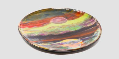 Large Pottery Plate, 12-14 Inch Plates, Ceramic Dinner Plates, Charger Plate, Dinnerware Sets
