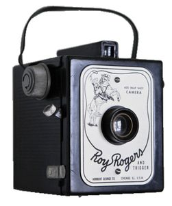 Photo of an old Roy Rogers box camera
