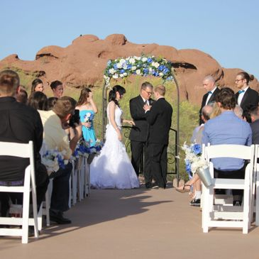 Papago park wedding, pop-up wedding, San Tan Weddings, Arizona