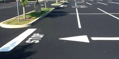 Sealcoat and Paving Parking Lot, Line Striping, Parking Space