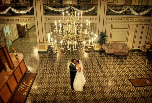 Chrystal and Andrew enjoying their first dance at The George Washington Hotel.