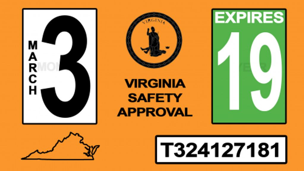 Virginia State Inspection, Vehicle Inspection, Inspection Sticker, State Inspection Station, Rhino