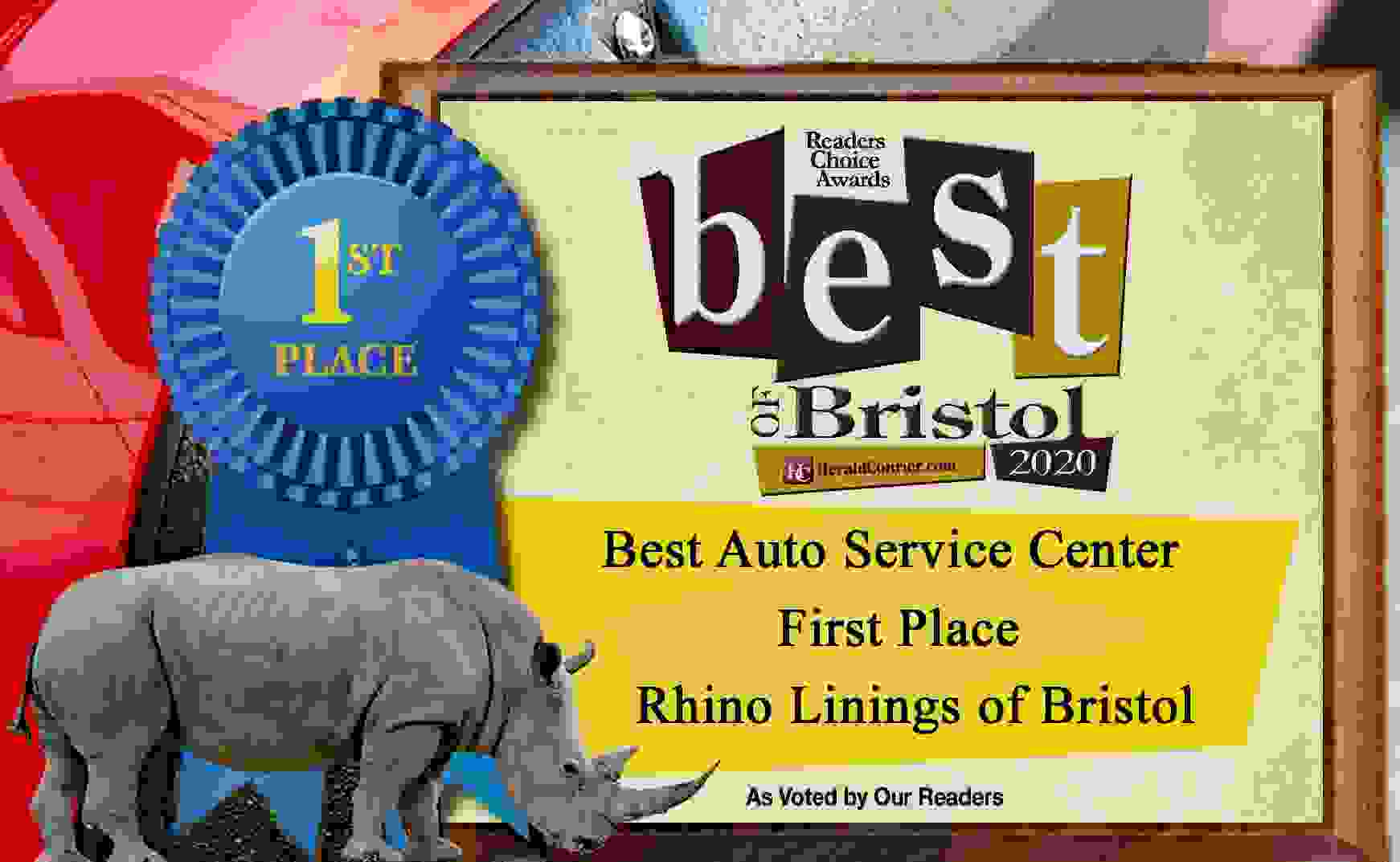 Best of Bristol, Best Auto Care Center, Virginia, Tennessee, Rhino Linings of Bristol, Voted #1