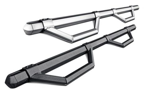 Step Bars, Running Boards, Stainless Steel, Black Powder Coated, No Drilling, Hitch Step, Bump Step