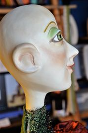 Make a paper clay head. Write me a line on my Contact Page if you are interested.