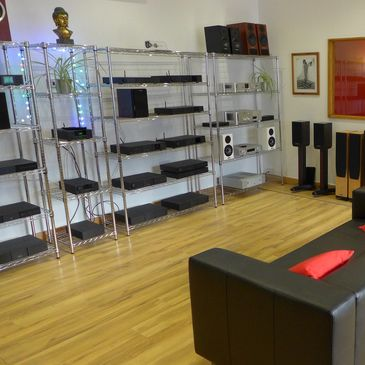 This link will take you to Moorgate Acoustics - the home of all things Hi-Fi and upstairs.