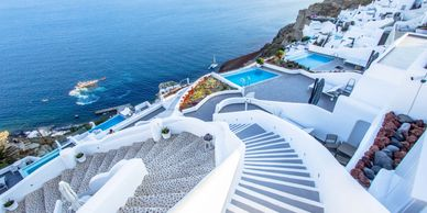 Group Travel Social Club Santorini Greece