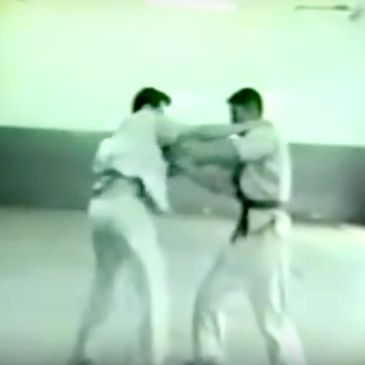 Grandmaster in 1965 demonstrating Baoding Shuai Jiao. First Tradtional Chinese Wrestling/Kung Fu in the United States.