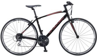Frame-alloy, Fork-steel, Tires-700x32, Shifters-Shimano, 21 speed, Brakes-Tektro linear pull