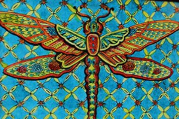 dragonfly zentangle ink and pen