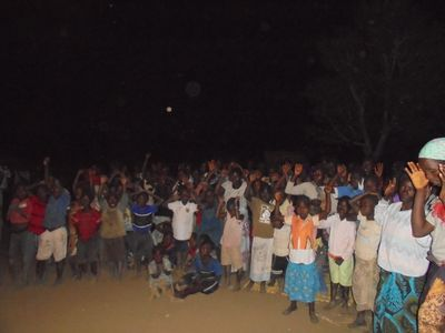 Our first ever village gospel crusade.  Over 500 accepted Jesus Christ.  Miracles poured out.