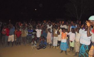 Evangelistic meeting in Malawi, Africa.  Nearly 500 came forward to receive Jesus Christ as Lord.
