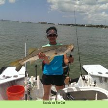 St Pete Fl fishing charters catching snook