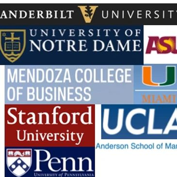 Vanderbilt, Notre Dame, Mendoza School of Business, ASU Supply Chain, ASU Sustainability, Arizona State Sustainability, Stanford, Penn, Wharton, UCLA, Anderson School of Business, Educational Institutions, College and Masters Degree Programs Attended, Certificate Education,