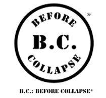 B.C.: BEFORE COLLAPSE registered trademark circle logo and title