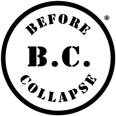 B.C.: BEFORE COLLAPSE registered trademark circle logo