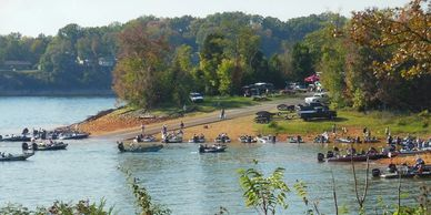 Boat Dock on Cherokee Lake in Morristown, Tennessee