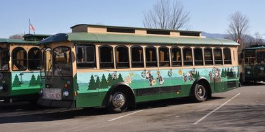 Pigeon Forge TN Trolley Bus tours