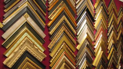 Closed corner picture frame samples at JLP Custom Picture Framing