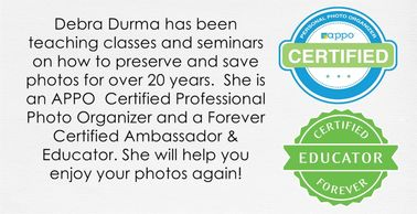 Debra Durma is an APPO  Certified Professional Photo Organizer and a Forever Certified Ambassador