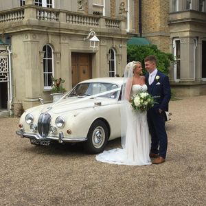 'Rose' our lovely MK II Jaguar A beautiful day at Quex Park  Molly's Classic Wedding Cars