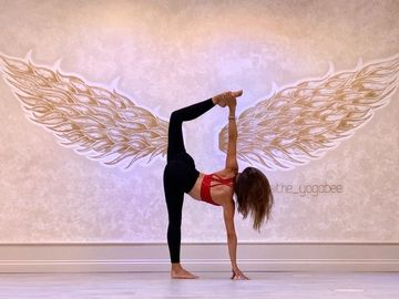 InHale Yoga Studio Amanda Riley Yoga Half Moon pose Ardha Chandrasana