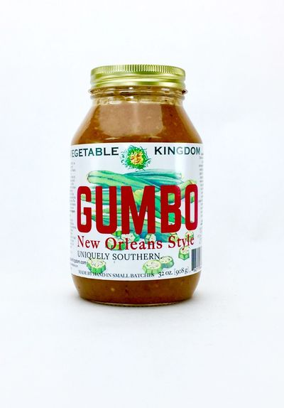 Vegetable Kingdom's New Orleans Style Gumbo is the real deal;  simply add protein and rice to enjoy!