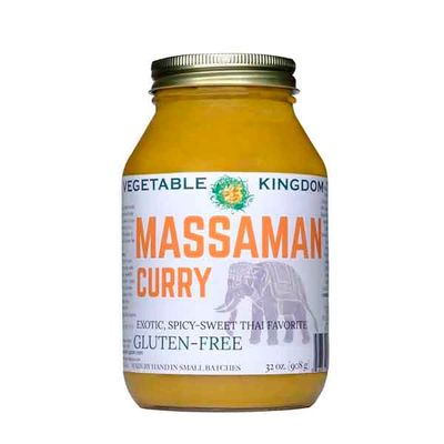 Vegetable Kingdom's Massaman Curry is smooth, rich and exotic. Add vegetables, protein and rice.