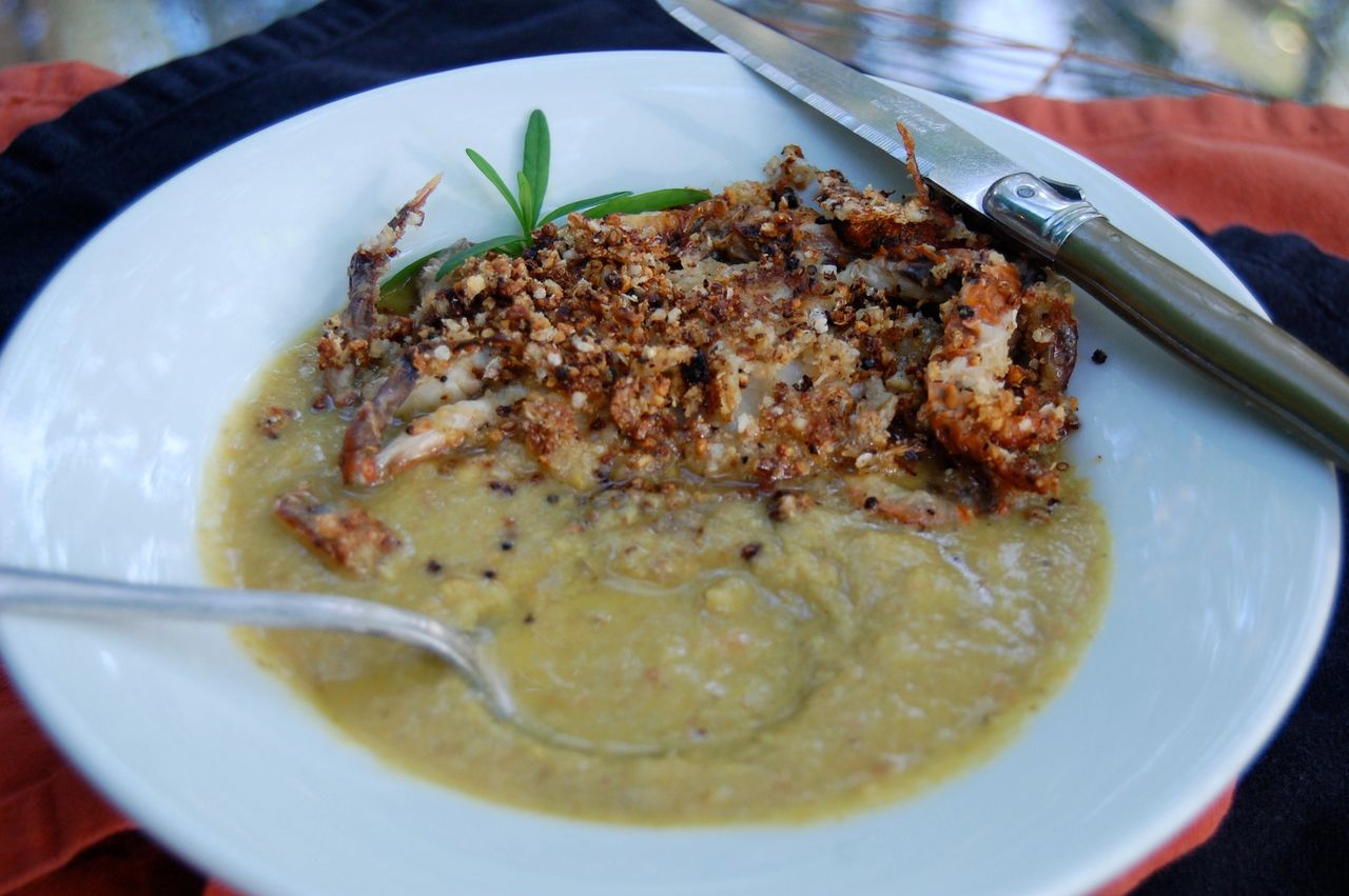 CHICKEN CURRY & FRIED SOFTSHELL CRAB CURRY