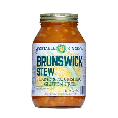 Vegetable Kingdom's  Brunswick Stew is a healthy one-pot meal. Contains potatoes, just add protein!