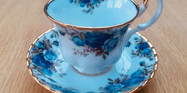 Royal Albert fine bone china cup and saucer.