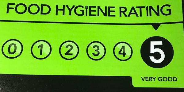 Food Hygiene Rating certificate.