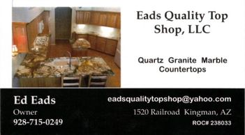 Long time quality stone fabricator doing business out of Kingman AZ. Contact Ed Eads for all your st
