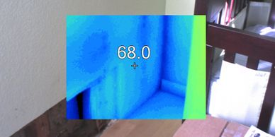 Thermal imagine can help find the extent of damage in the case of a water loss.