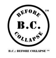 Disk and text logo for B.C.: BEFORE COLLAPSE™
