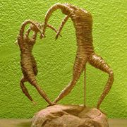 """One Heart "" Copper Wire Sculpture"