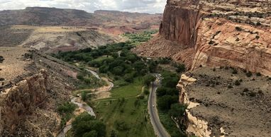 Capitol Reef NP is a hidden treasure, with cliffs, canyons, domes, and bridges in the Waterpocket...
