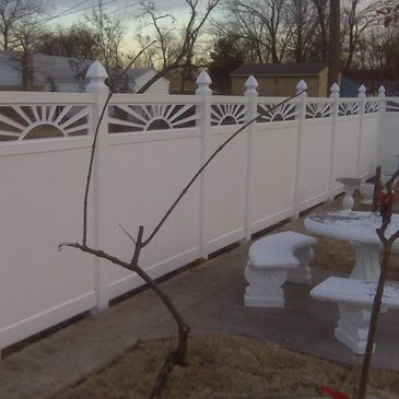 custom installed vinyl fence in O'fallon to replace old wood fence  by  O'Fallon  warrenton  fence