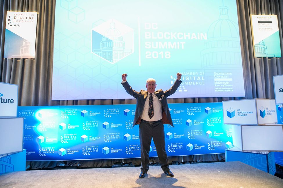 Ralph Benko at the Chamber of Digital Commerce Blockchain Summit 2018