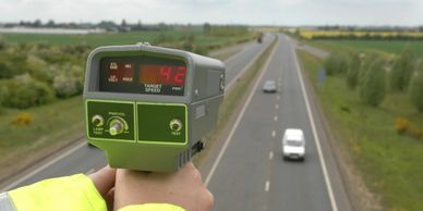 Speed Gun collecting data for visibility splays