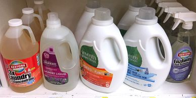seventh generation, laundry, cleaning, ecover, ecos, household, dishes, incense, containers, paper