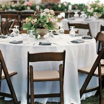 Chair and Table Rentals for weddings and events
