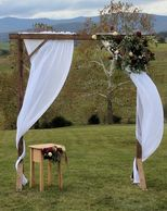 wedding wood arch rental
