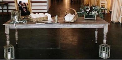 farm table rentals for weddings