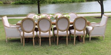 chair and table rental packages