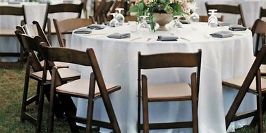 chair and table packages for weddings