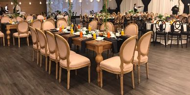 wedding chair and table packages rental