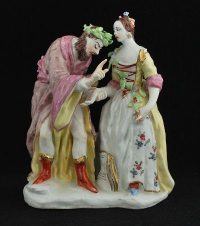 "The Fortune Teller, Bow Porcelain Factory C1750. 7"" high"