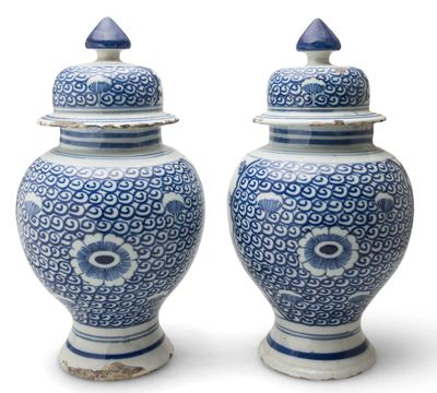 Pair of Delft vases 18th c.